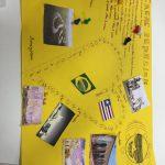 """Jogo de percurso """"Uma viagem pelo Brasil"""" criado pelas crianças"""